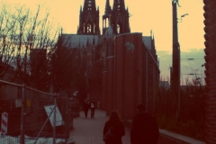Anocheciendo, Catedral de Colonia.
